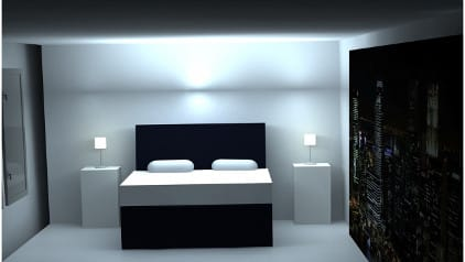 bedroom with light